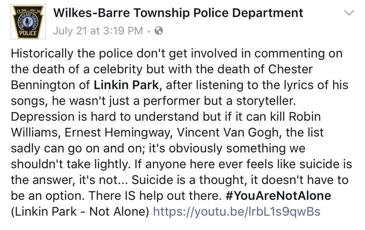 facebook police about linkin park