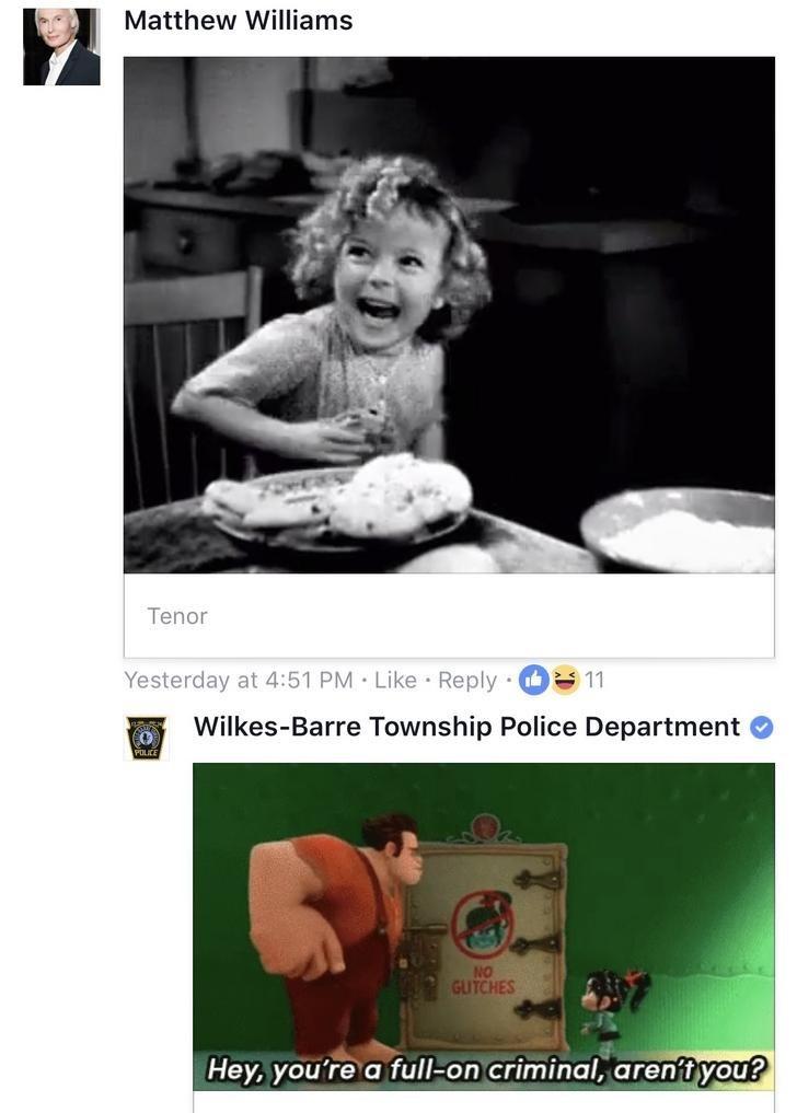 police on facebook