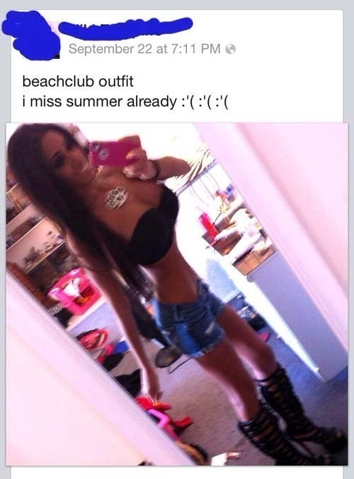 girl taking selfie in mirror body photoshopped beachclub outfit i miss summer already deu