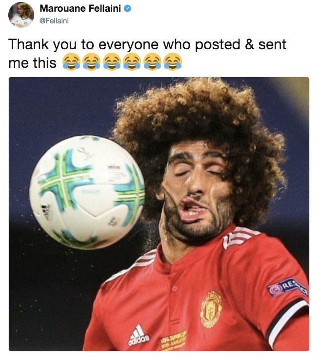 Football player - Marouane Fellaini @Fellaini Thank you to everyone who posted & sent me this RES SUC W-LG adidas