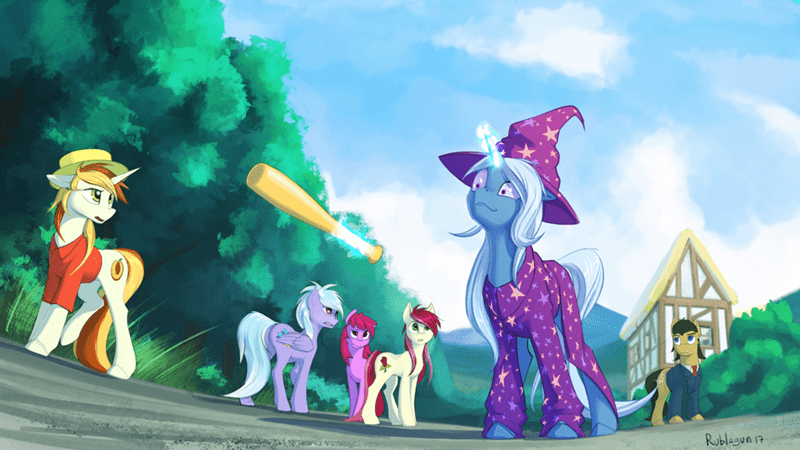 cloudchaser the great and powerful trixie roseluck filthy rich rublegun peachy pitt berry punch - 9063629824