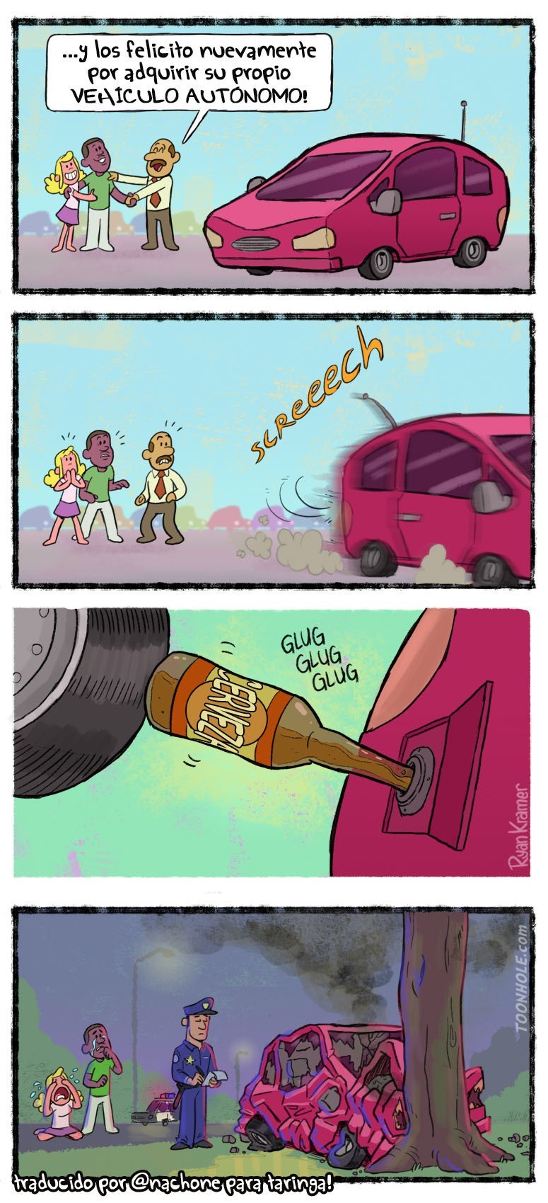 cuando a un vehiculo autonomo le da por beber