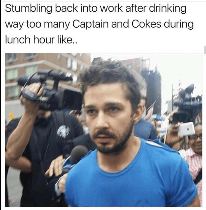 Hair - Stumbling back into work after drinking way too many Captain and Cokes during lunch hour like..