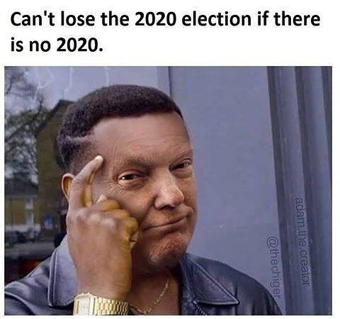 Meme about world war three preventing 2020 elections, donald trump photoshop.