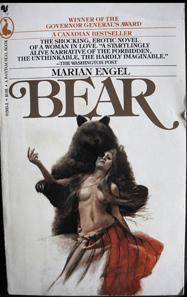 Canadian bestseller of a book about romance with a bear
