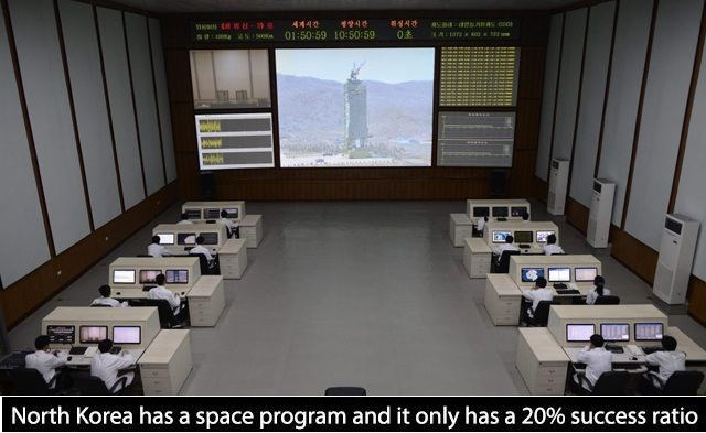 Room - 세계시간 C - sa Ns 01:50:59 10:50:59 싱시간 08 성상시간 ALaTEso North Korea has a space program and it only has a 20 % success ratio