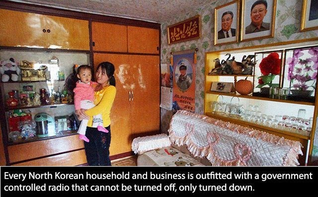 Room - Every North Korean household and business is outfitted with a government controlled radio that cannot be turned off, only turned down.
