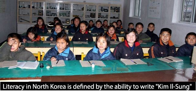 "Class - Literacy in North Korea is defined by the ability to write ""Kim Il-Sung"""