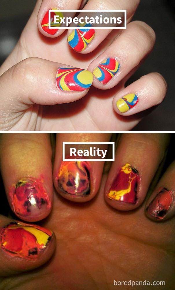 Nail polish - Expectations Reality boredpanda.com