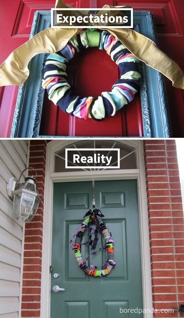 Wreath - Expectations Reality boredpanda.com