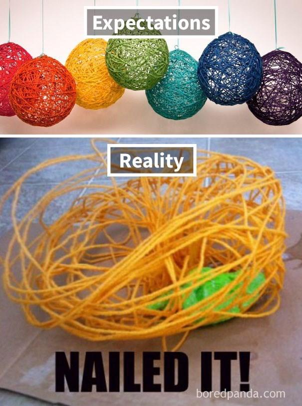 Yellow - Expectations Reality NAILED IT! boredpanda.com