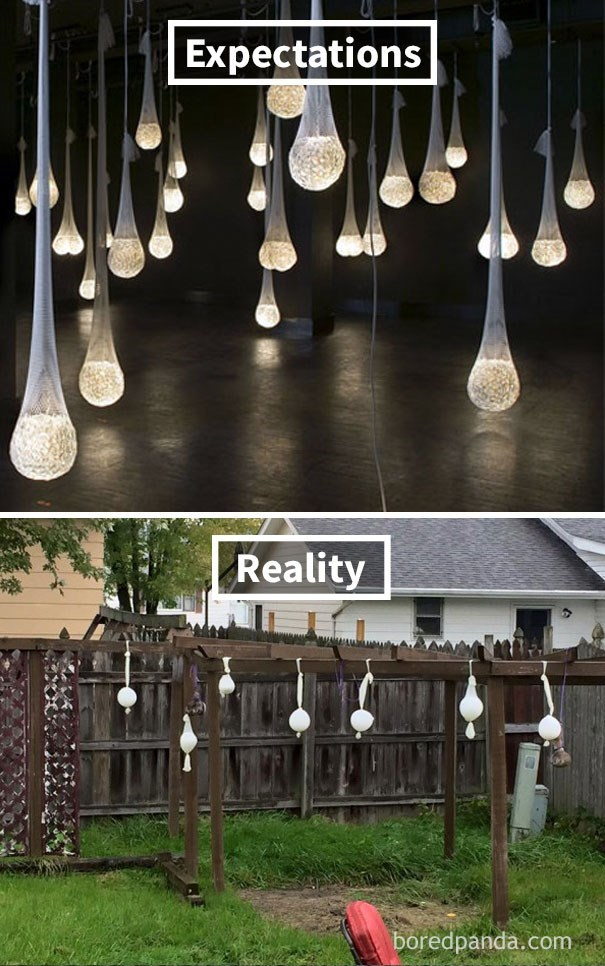 Lighting - Expectations Reality boredpanda.com
