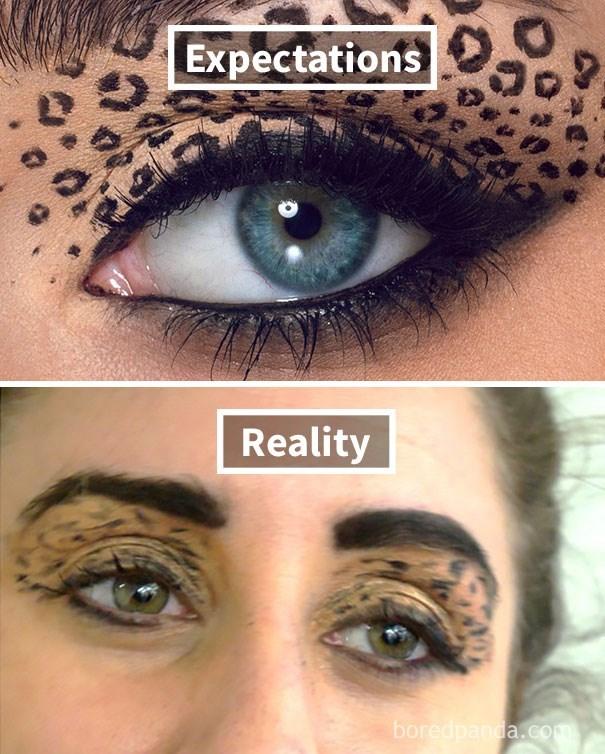 Eyebrow - Expectations Reality boredpanda.com
