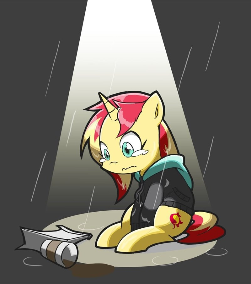 monday blues equestria girls summertime shorts rvceric everything is ruined sunset shimmer - 9064229888