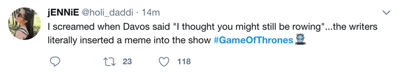 """Text - JENNIE @holi_daddi 14m Iscreamed when Davos said """"