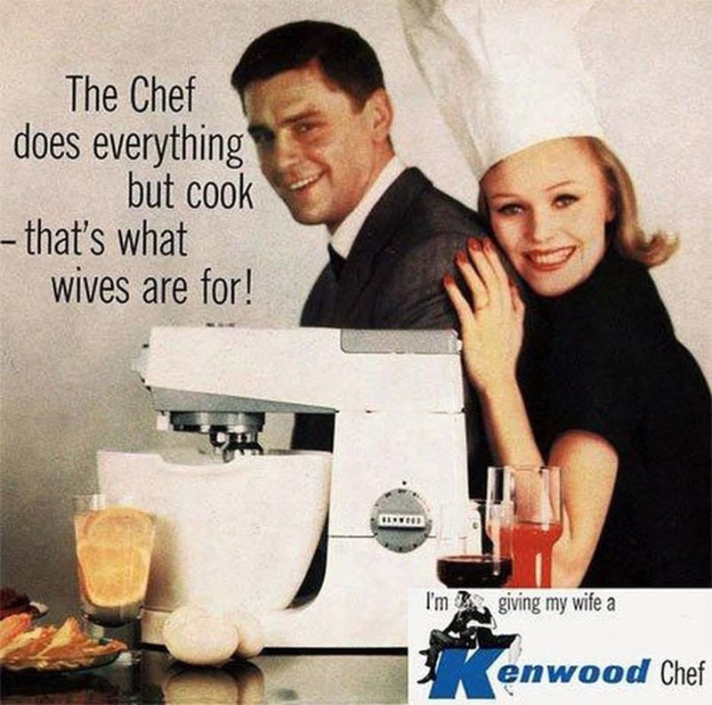 Gentleman - The Chef does everything but cook -that's what wives are for! I'mgiving my wife enwood Chef