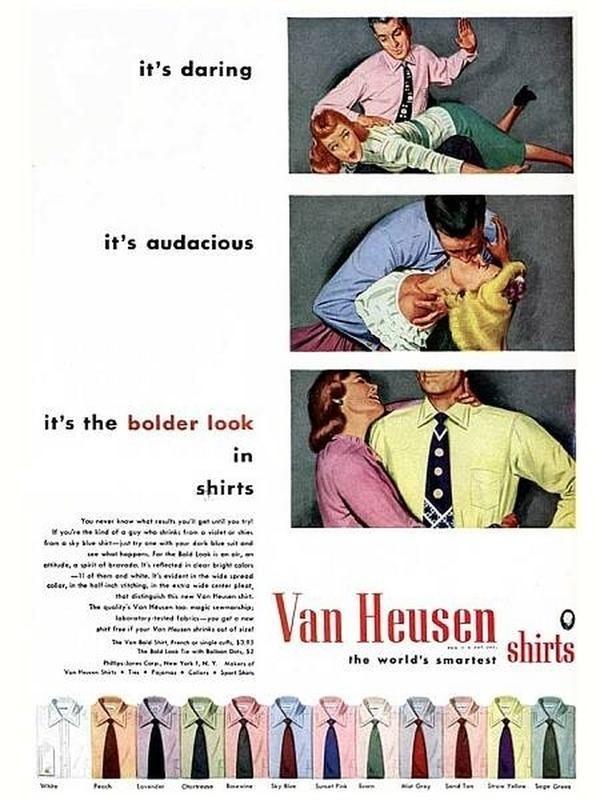 it's daring it's audacious it's the bolder look in shirts You rev t yot u you yoe ne nd of a syte tvit ei- p d best n edwof revete sected in eear bi caler t nend evidet inhe wide sead eoer,ithe halfinc vting, me waide ce ple at Ven n t The Vo K k lbat d febi- g e ne f Van Mesen shrin at of sira Van Heusen shirts t he world's smartest tend t F Ta ege Gr Fech Curvens