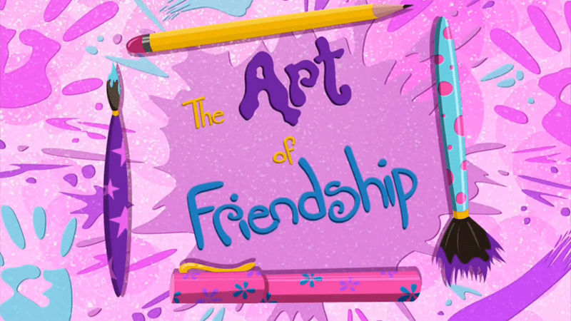 equestria girls summertime shorts the art of friendship - 9064726016