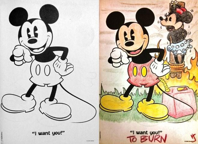 "Cartoon - 00 0.0 ""I want you!"" ""I want you!"" TO BURN"