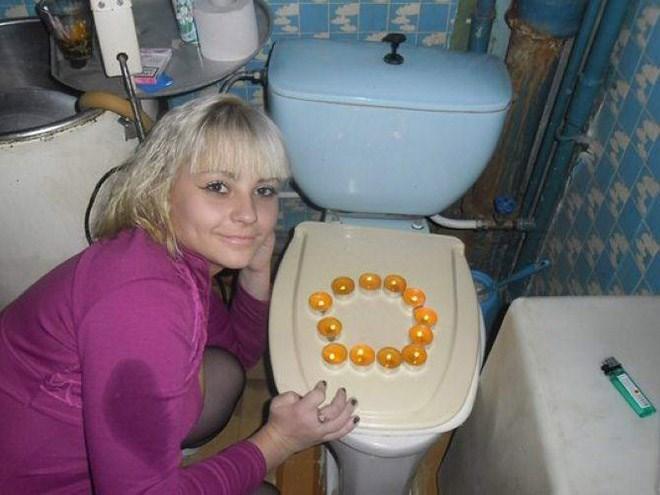 russian girls - Toilet seat