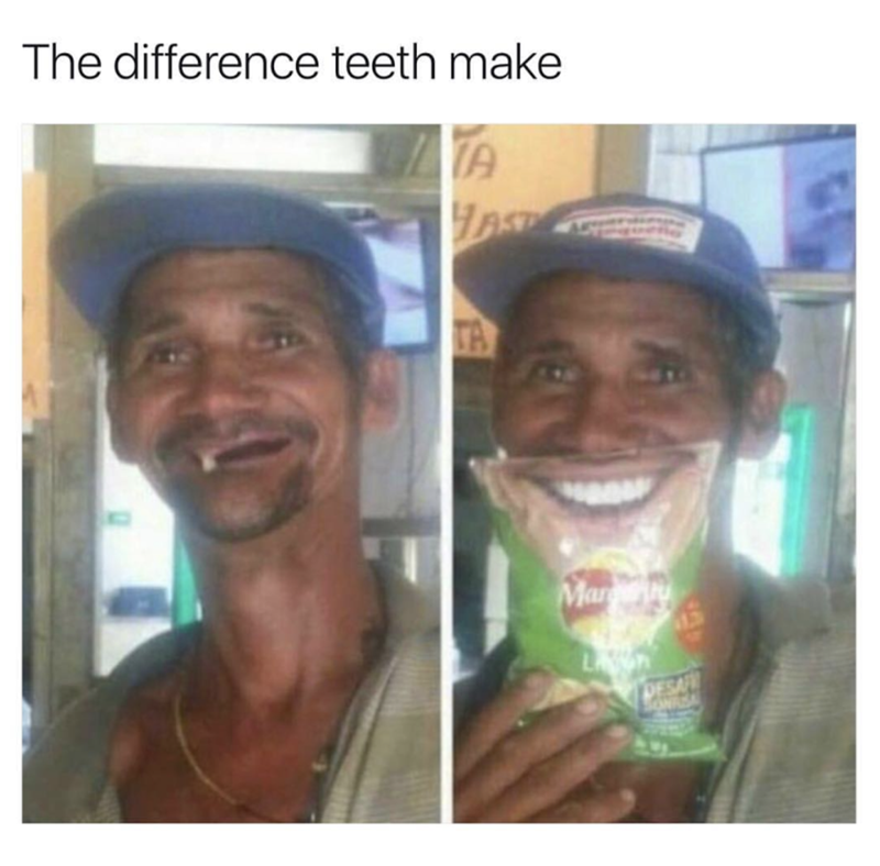 Face - The difference teeth make TA TA Mar DESA