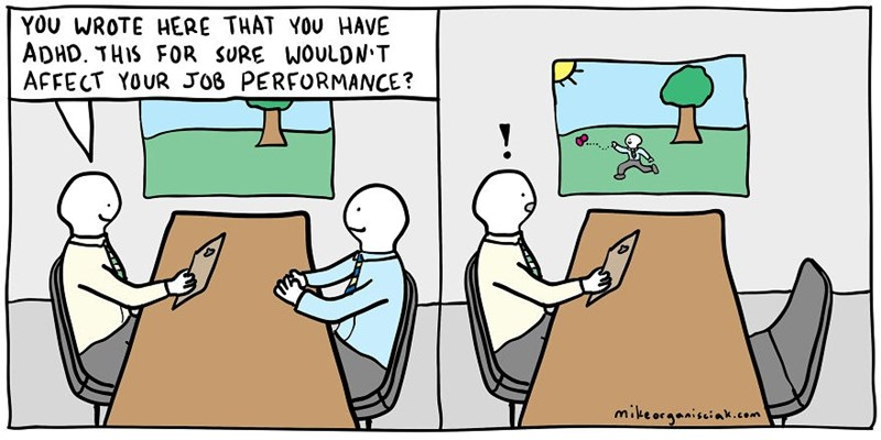 dark comic - Cartoon - YOU WROTE HERE THAT YOU HAVE ADHD. THIS FOR SURE AFFECT YOUR JO6 PERFORMANCE? WOULDN T mikeorganisiak.com