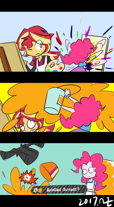 equestria girls summertime shorts rvceric pinkie pie splatoon comic the art of friendship sunset shimmer - 9065467392