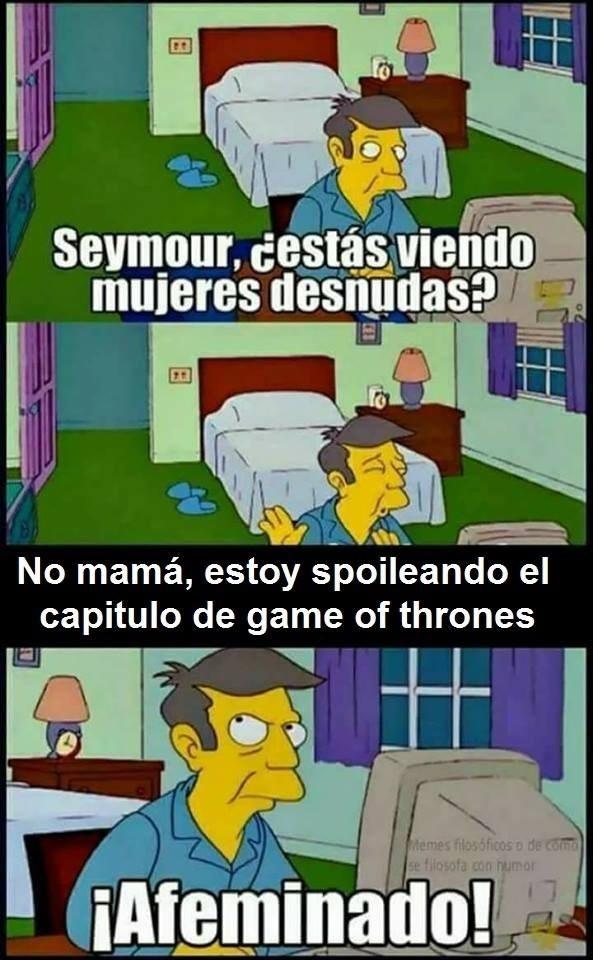 seymor spoileando game of thrones meme