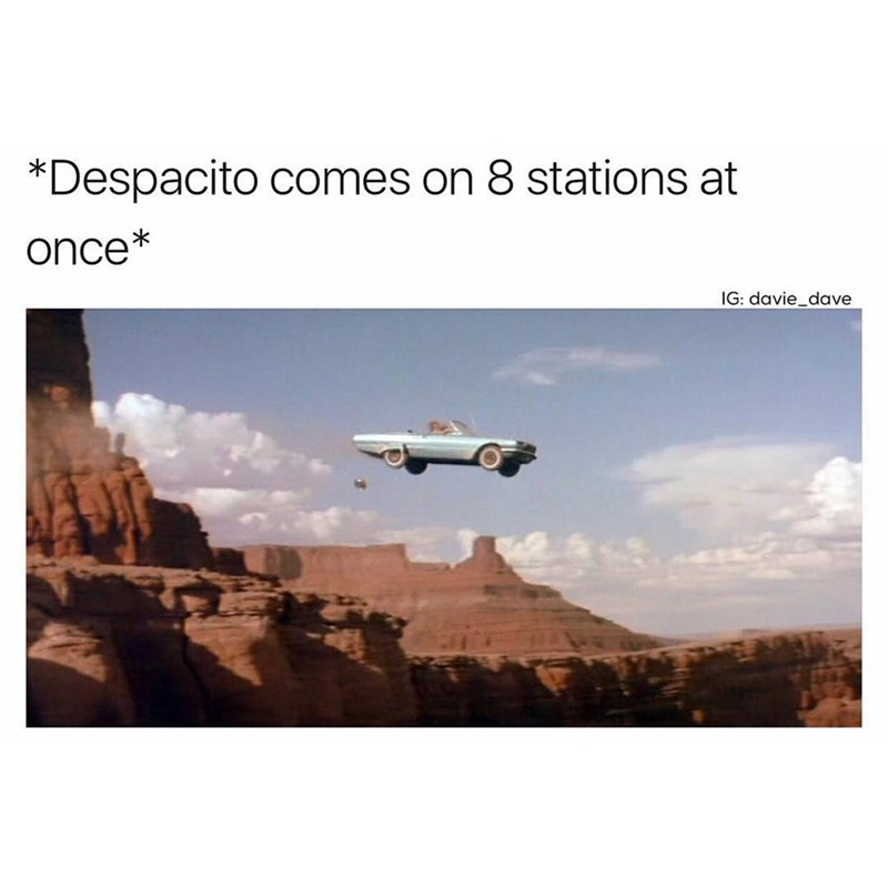 Funny meme about the song despacito.