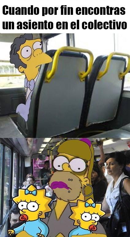 meme cuando encuentras puesto vacio en el bus