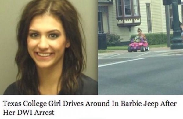 Hair - Texas College Girl Drives Around In Barbie Jeep After Her DWI Arrest