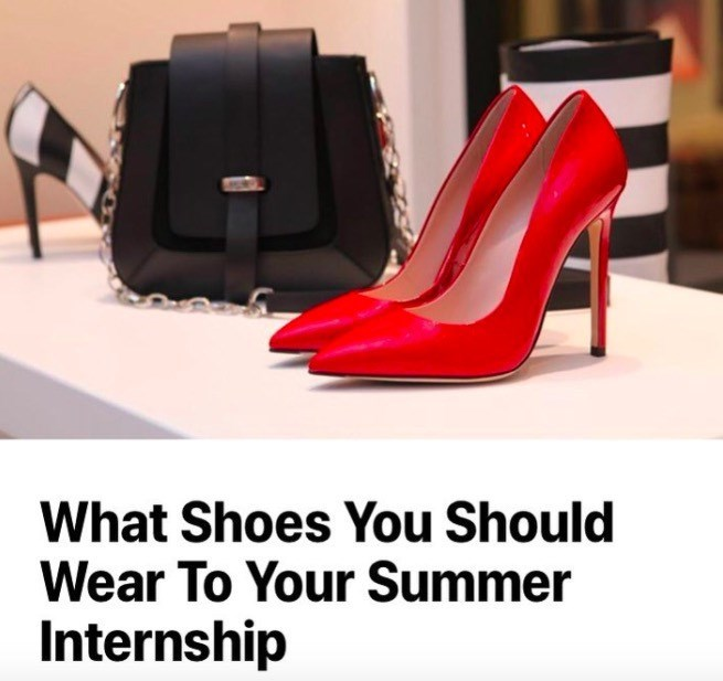 High heels - What Shoes You Should Wear To Your Summer Internship