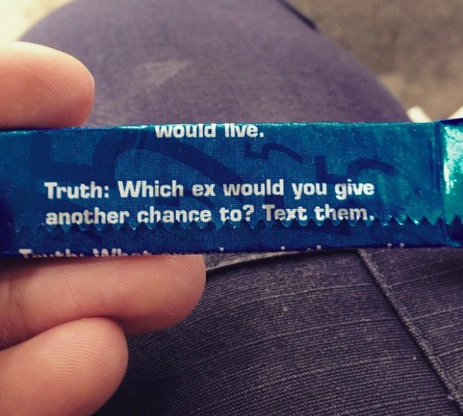 Cobalt blue - Would Tive. Truth: Which ex would you give another chance to? Text them.