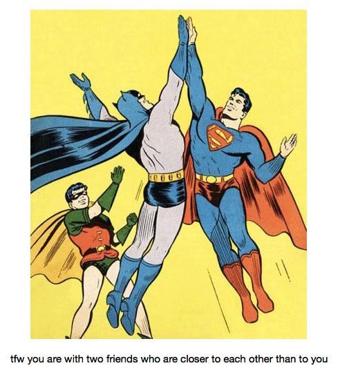 Batman and Superman Hi-Five Each Other, Robin Ignored