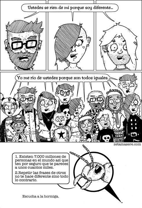comic unicos y diferentes version hormiga