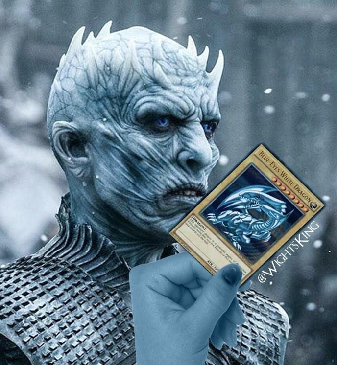 Illustration - BLUE-EYES WHITE DRAGONC CCCcccCe ATK/10 @WIGHTSKING