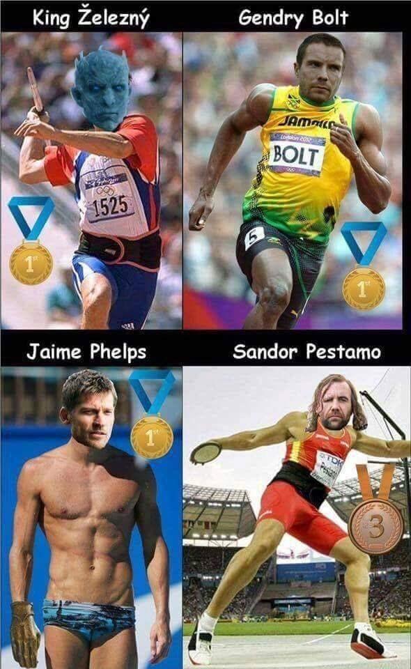 Sports - Gendry Bolt King Železný JAM oton 2012 BOLT 1525 Sandor Pestamo Jaime Phelps ATOK