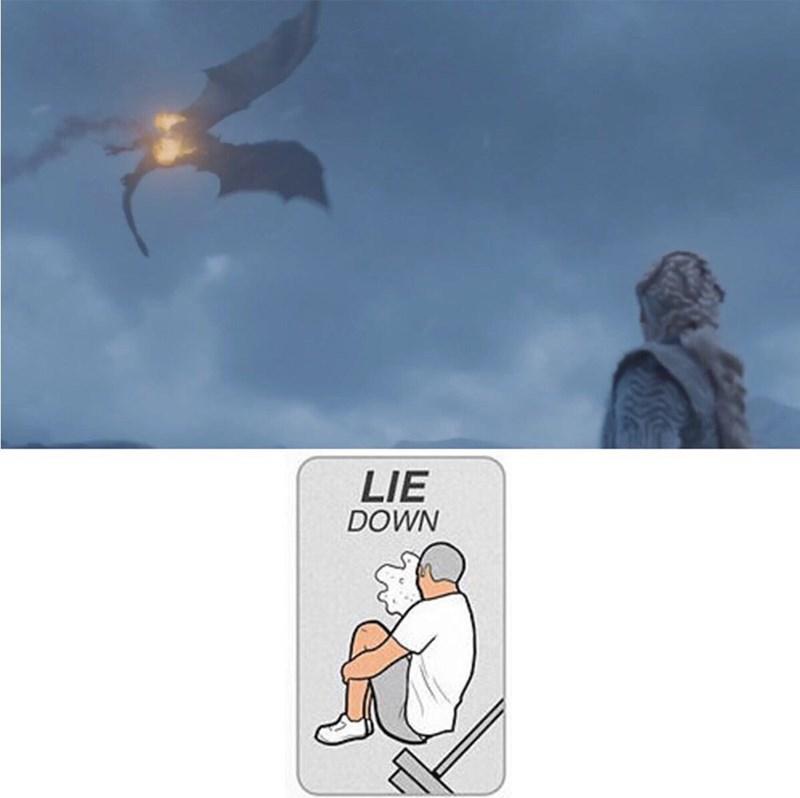 Cartoon - LIE DOWN