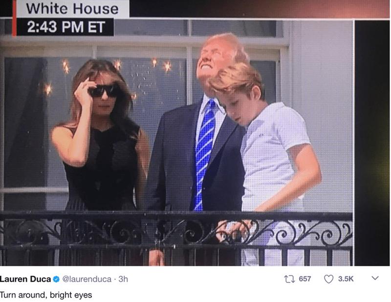 Photo caption - White House 2:43 PM ET Lauren Duca ti657 @laurenduca 3h 3.5K Turn around, bright eyes