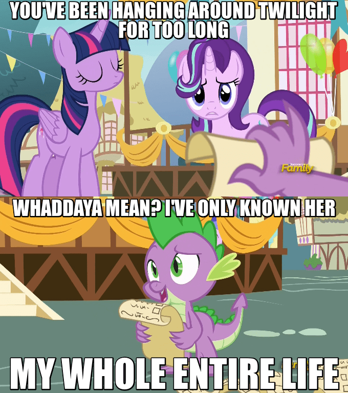 spike starlight glimmer twilight sparkle screencap triple threat comic - 9067034368