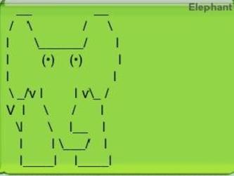 Green - Elephant / () () VI\ V