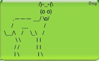 Green - Dog (o o) o/ / LI 11 LA II I N IN