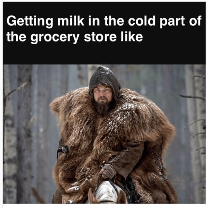 Leonardo Dicaprio meme of getting milk from the store