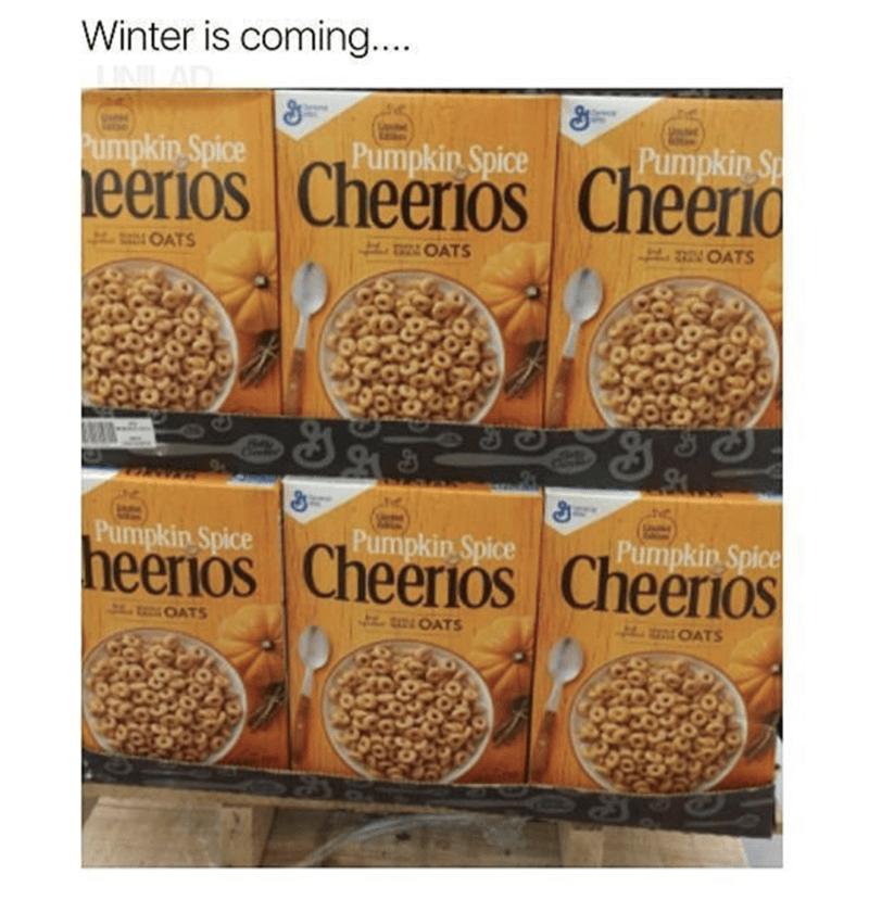 cheerios pumpkin spice meme