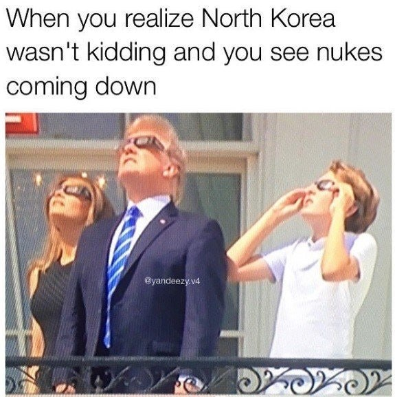 Trump meme about nukes coming down