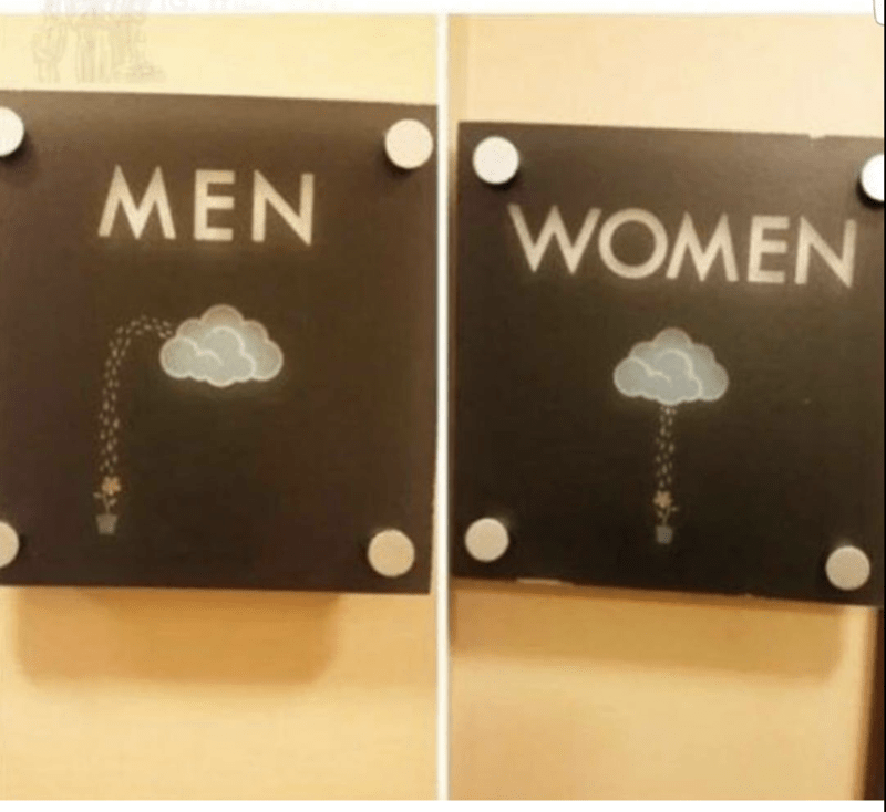 funny meme about bathroom signs