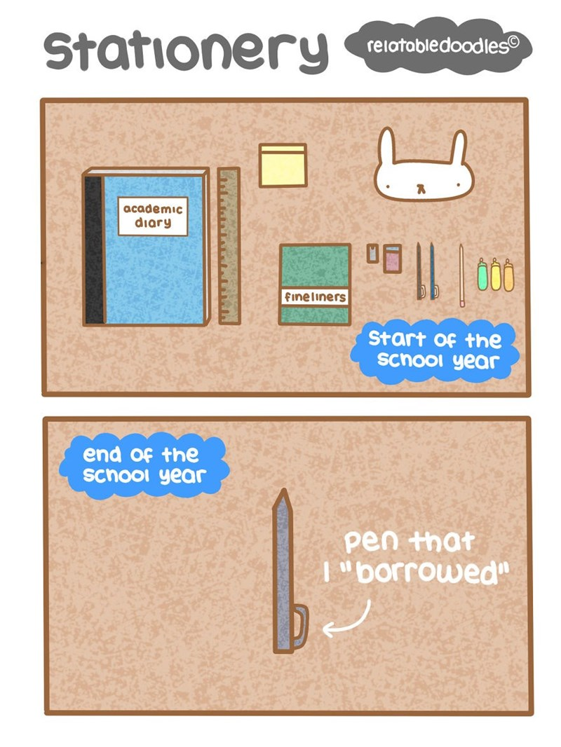 """Paper product - Stationery relatabledoodles academic diary 咀