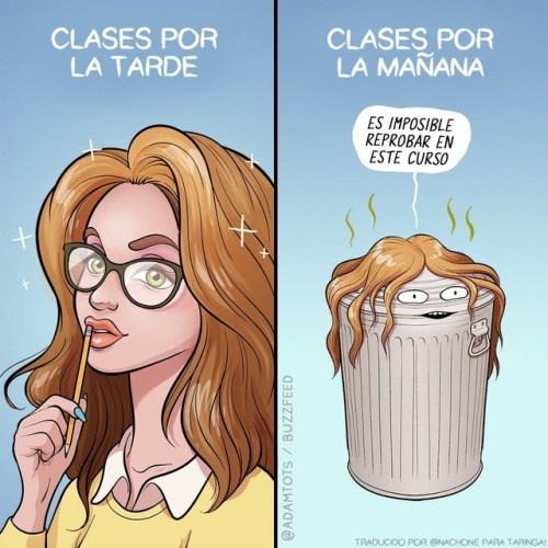 clases en la manana ves clases por la tarde