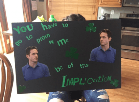 Blackboard - YOU have to go to prom me bc of the MPLICATION