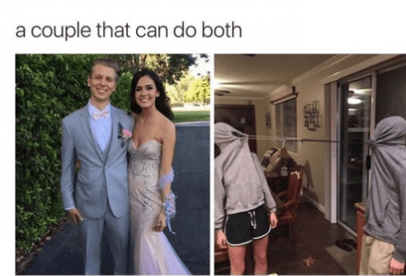 Photograph - a couple that can do both